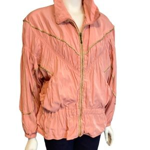 VINTAGE EAST WEST Dusty Rose Gold Puffer Jacket S